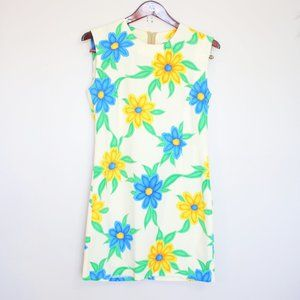 retro style flower power lightweight dress